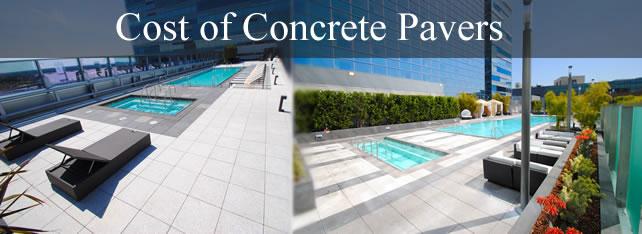 concrete pavers cost